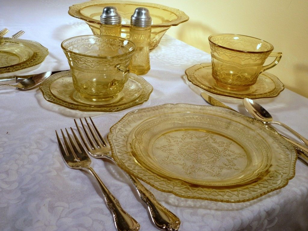 Amber Depression Glass Patterns Awesome Inspiration Design
