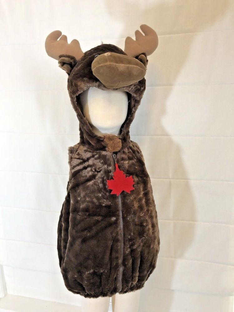 2b3f5237298 Baby Infant Toddler Boutique Moose Costume Halloween Soft Antlers Animal  NEW