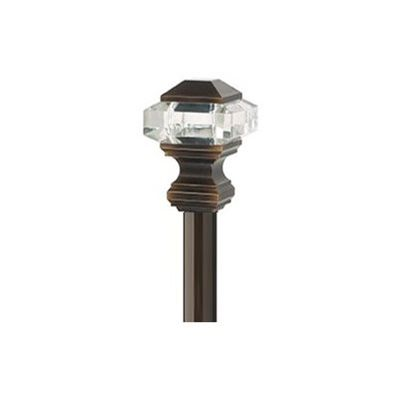 Umbra A R 72 In To 144 In Polished Bronze Steel Curved Curtain Rod