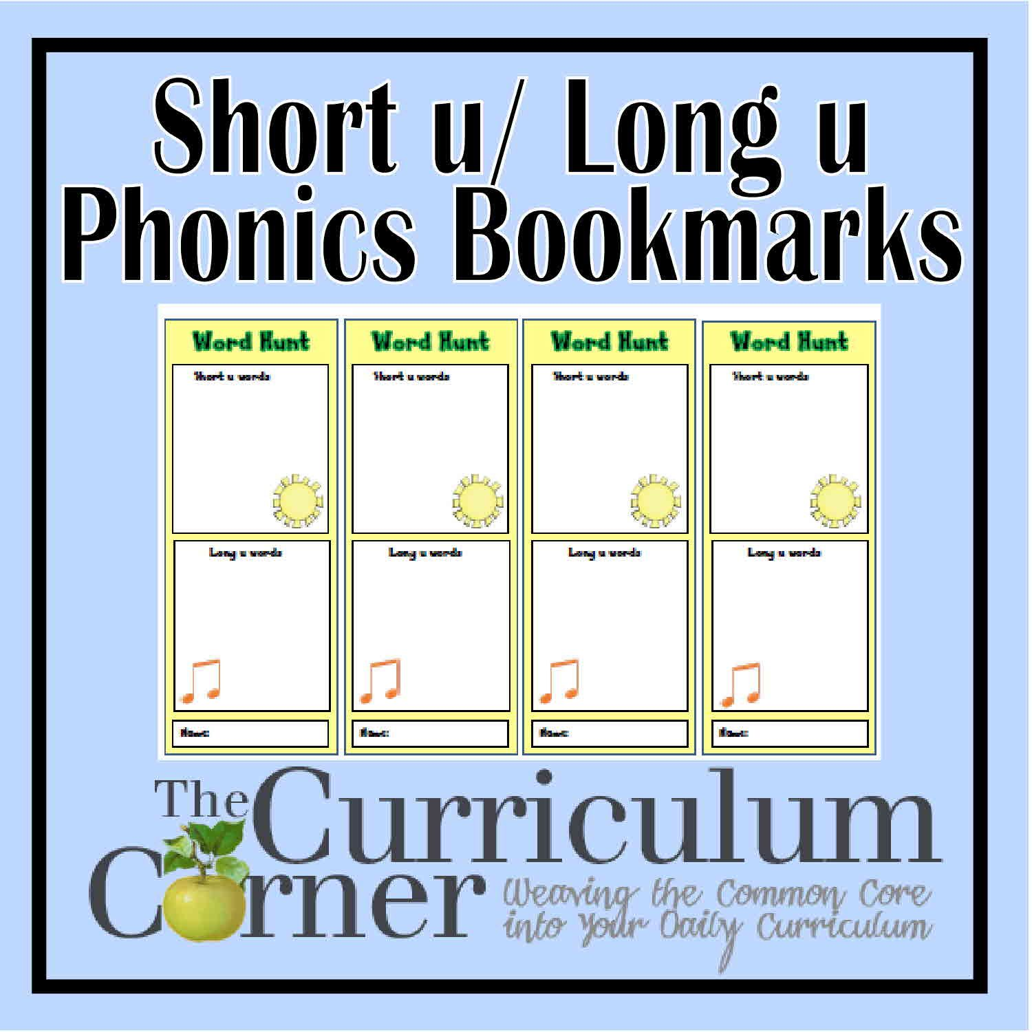 Vowel Sound Bookmarks
