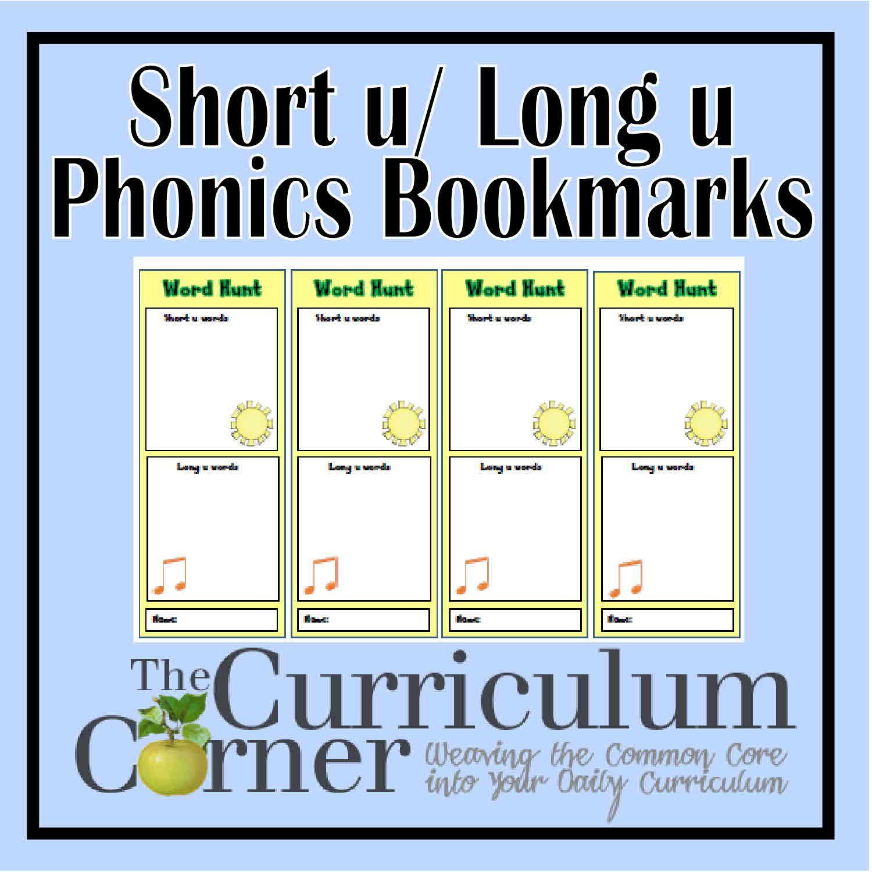 Vowel Sound Bookmarks