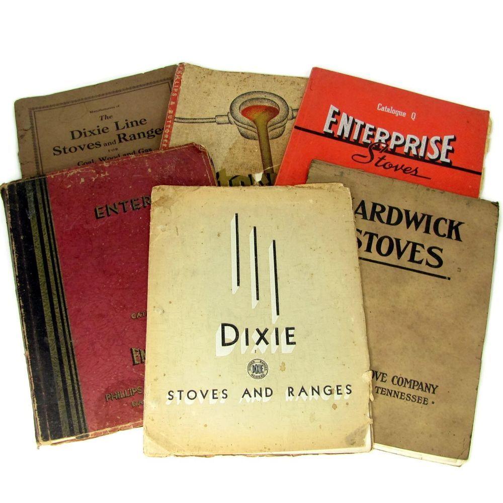Vtg 6 Wood Stove Range Catalog Cleveland Tn Enterprise Dixie Hardwick Gas Coal Stoves Range Antique Stove Stove