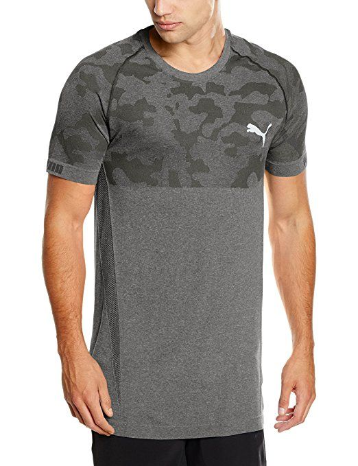 Puma Men's T-Shirt Seamless 839388 01 Future Tee, Black Heather, S