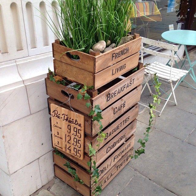Love this plant in a box idea.