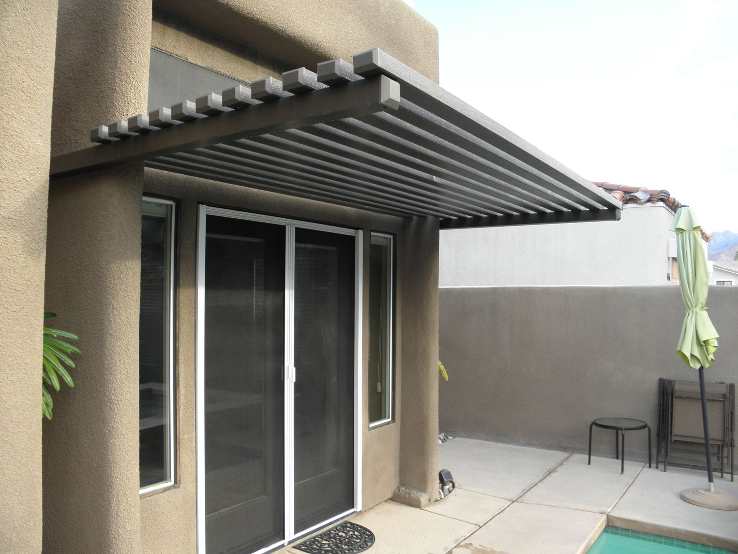 Image Result For Modern Awning Over Sliding Door Remodeing Ideas