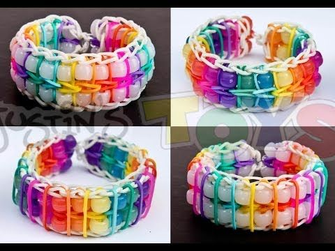 How To Make a Reversible Pinstripe Double Ladder Color Changing Bead Bracelet - YouTube