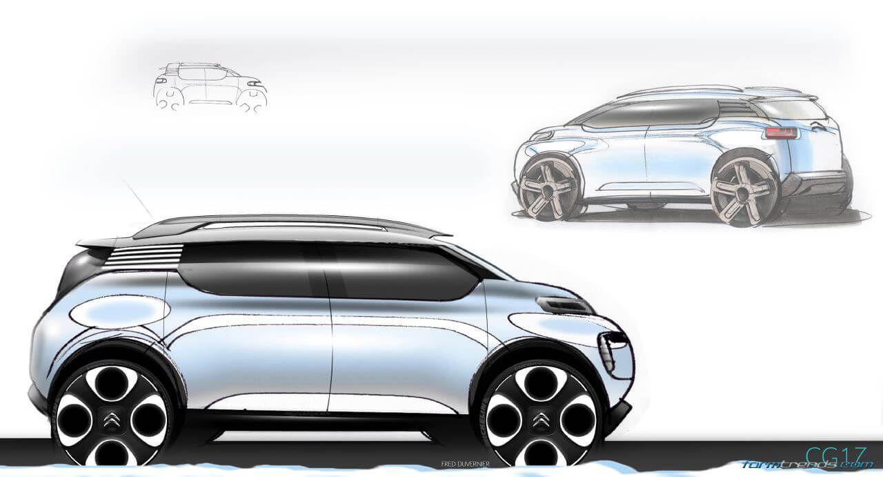 Citroen C-Aircross concept sketch