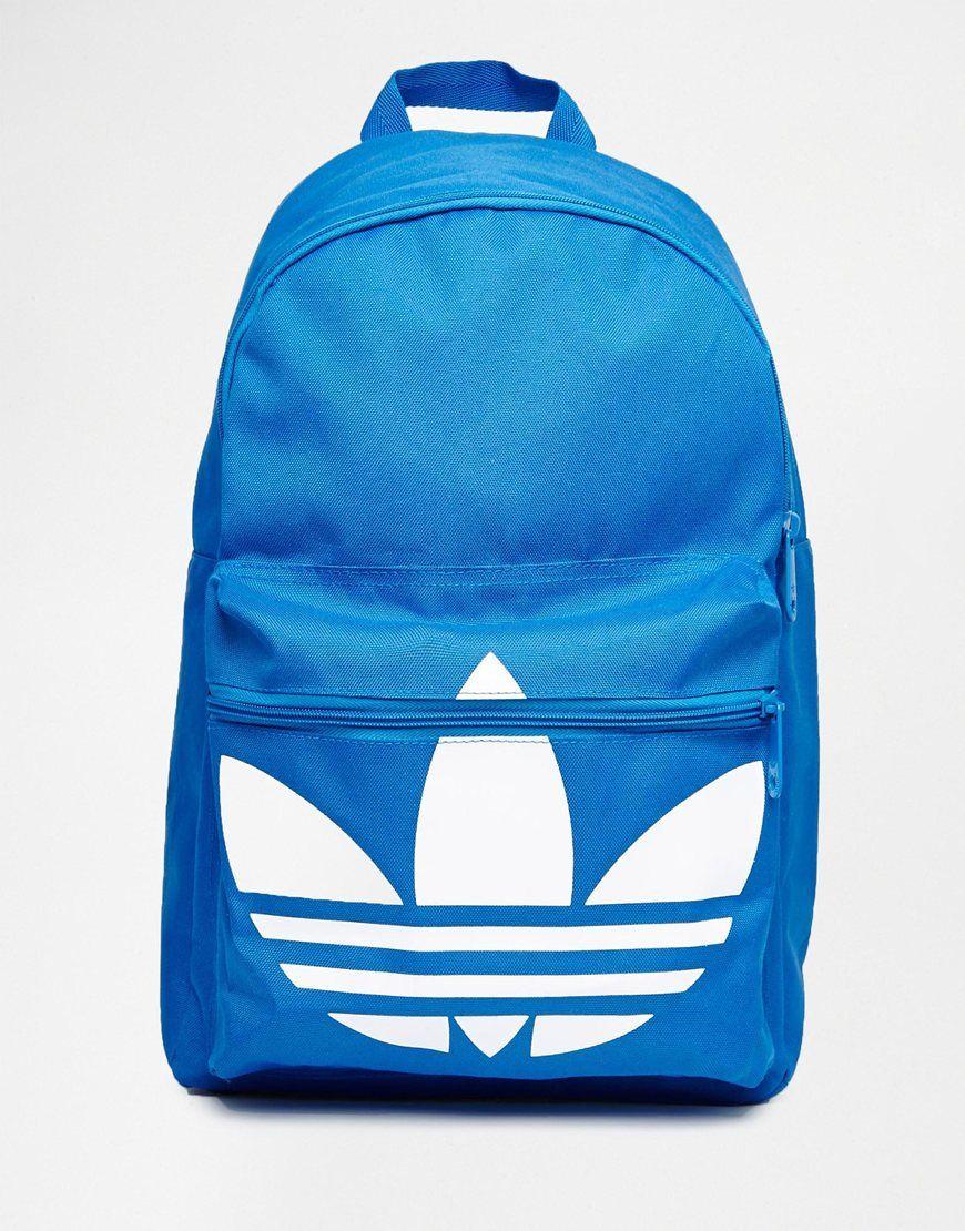 dce52a93b Mochila clásica en azul de Adidas Originals | Maletines | Mochila ...