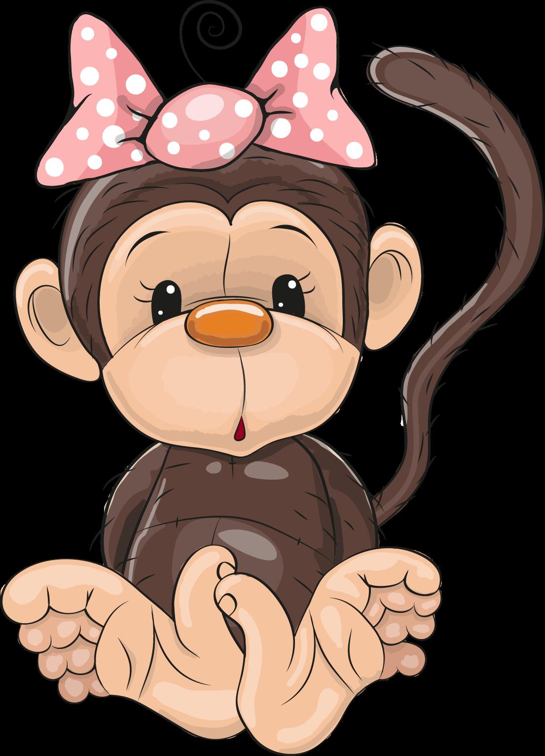Днем, обезьянки картинки нарисованные