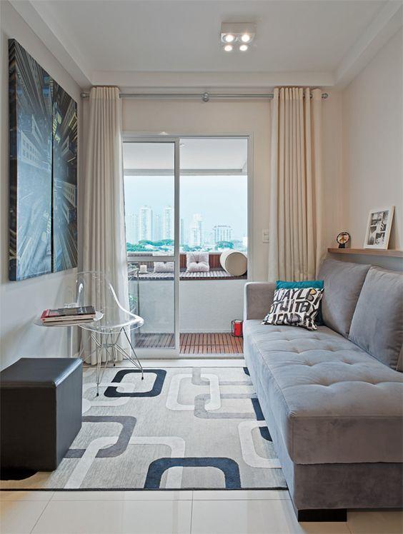 Imagem14 kevin salas pequenas apartamentos decorados for Cortinas departamentos pequenos