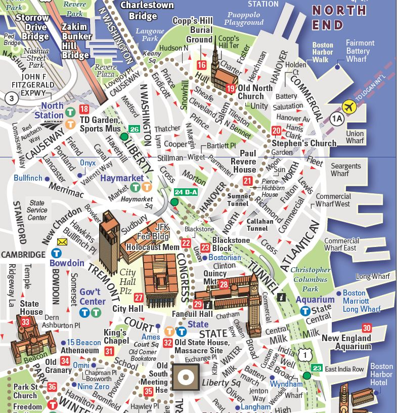 Map of Downtown Boston Downtown Boston map by Stephan VanDam