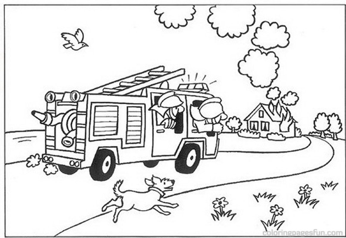 Fireman Archives Free Printable Coloring Pages