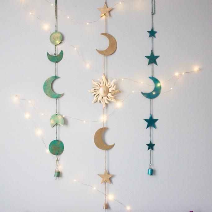 Moon Phases Wall Hanging Decor In 2019 Bedroom