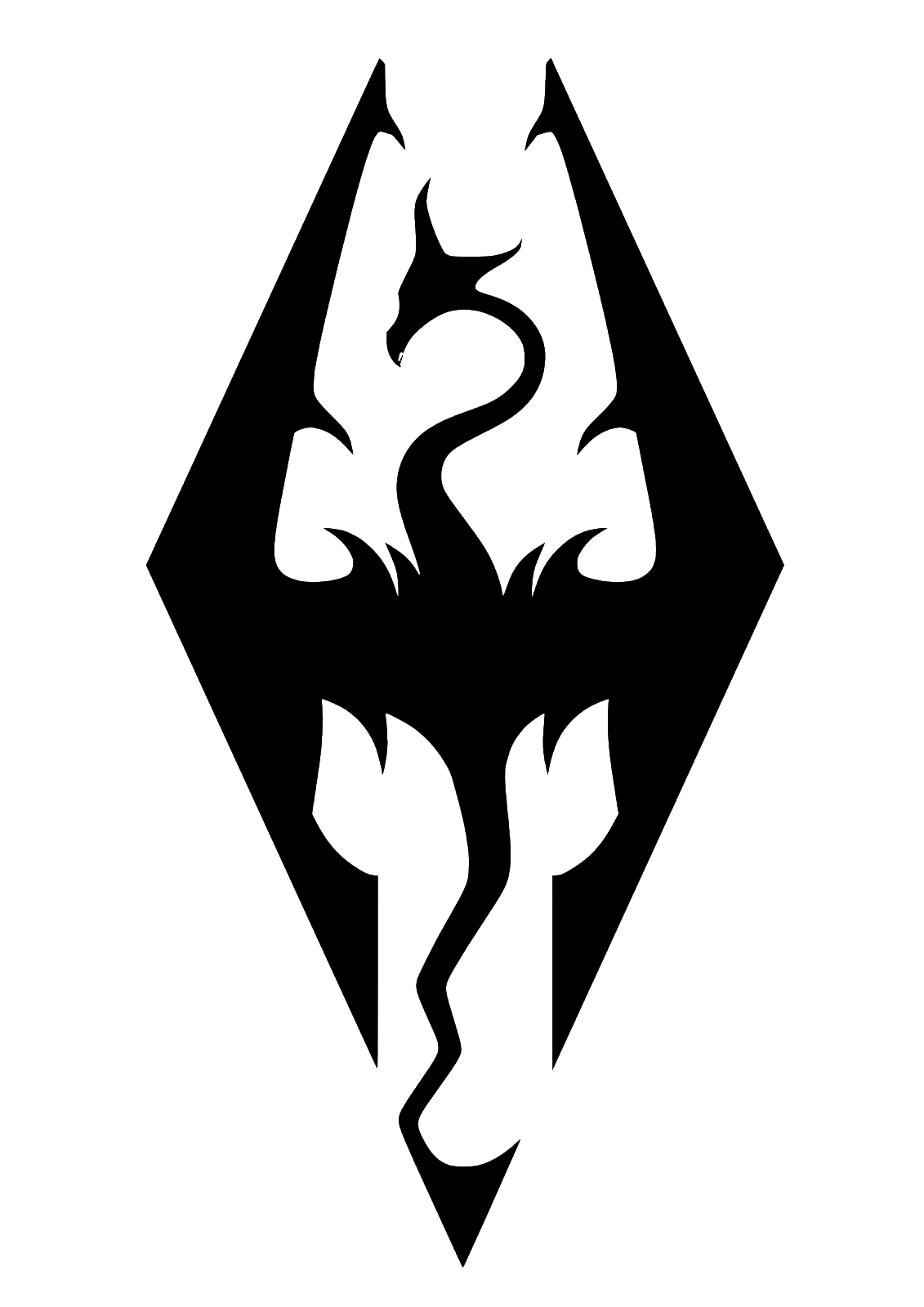 Transfer Gaming Elder Scroll Graphic Wall Art Decal Sticker Skyrim