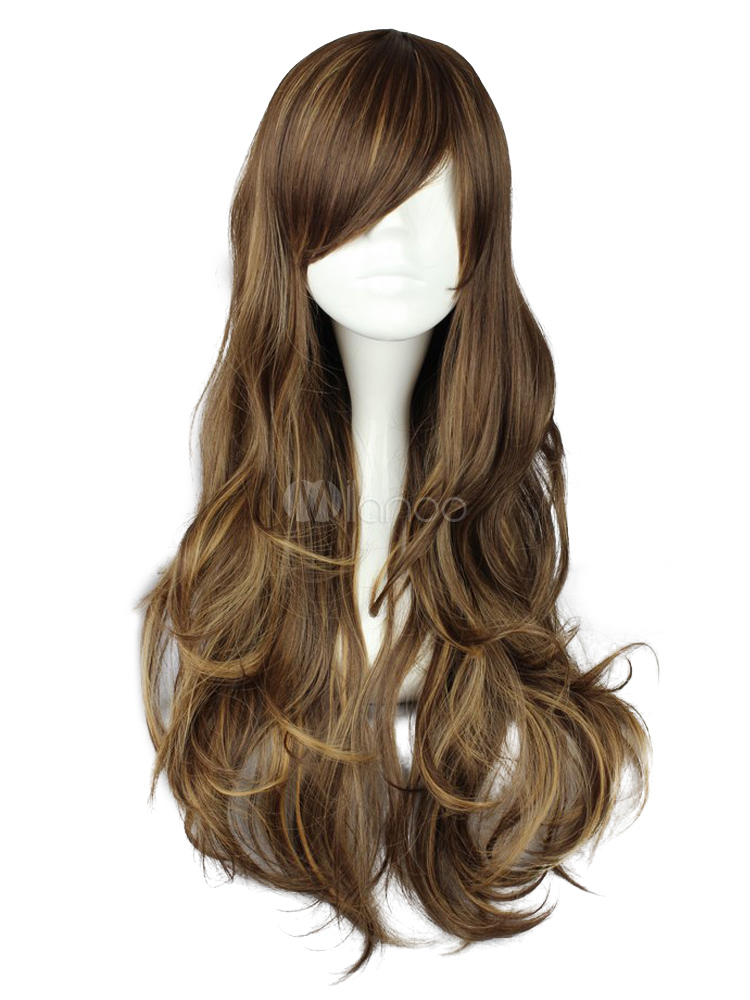 Dandy Light Brown Rayon Natural Lolita Wig - Milanoo.com