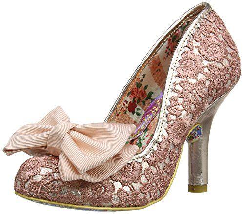 Closed toe pumps, Rose gold shoes, Heels