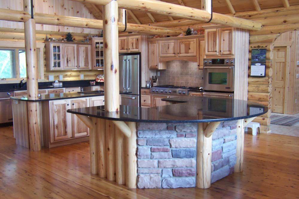 Most Creative Kitchen Design The Chorney Log Home Kitchens