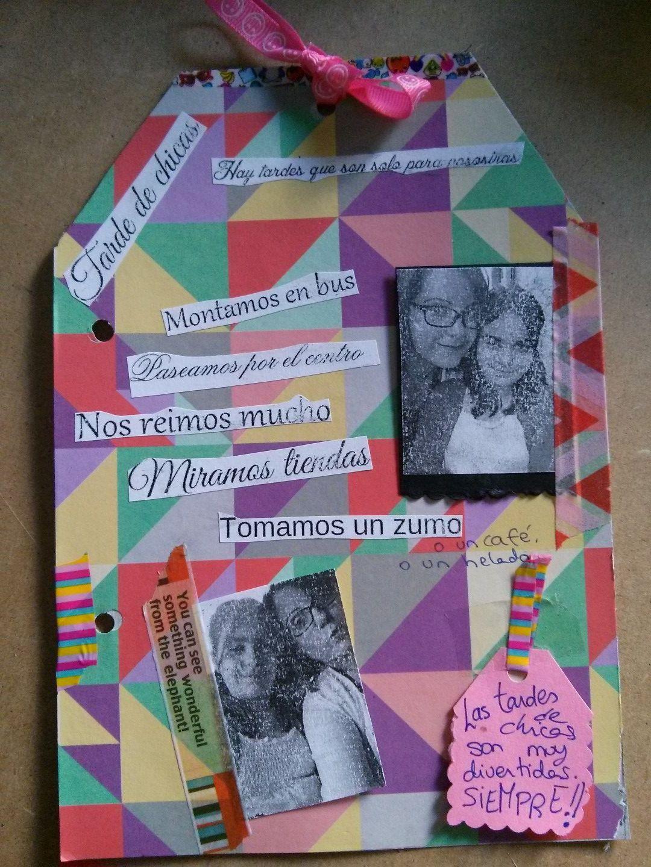 """Página- tarjeta """"Tardes de chicas"""""""