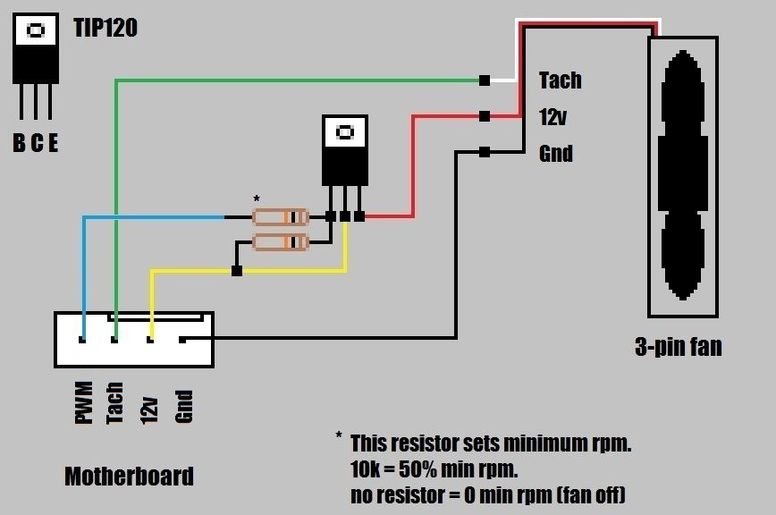 12v computer fan wiring diagram pwm - %50 duty cycle. (wiring picture) | electronic ... #12