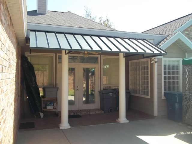 Superb Metal Porch Awnings Large Dimensions | Patio Center Can Design Any Shape U0026  Size Standing Seam