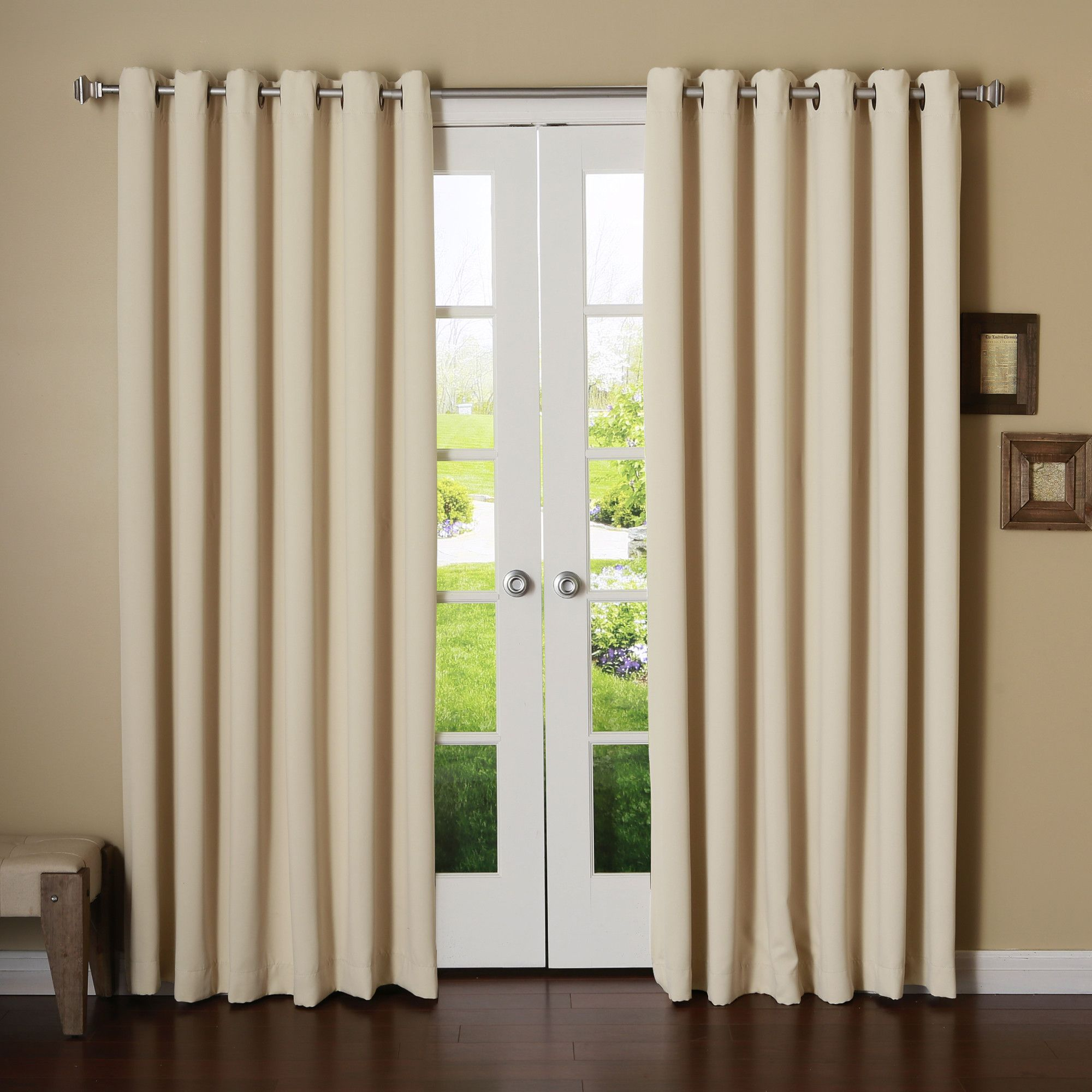 Interior Home Decor Ideas with Extra Long Curtain Rods: Silver Extra ...