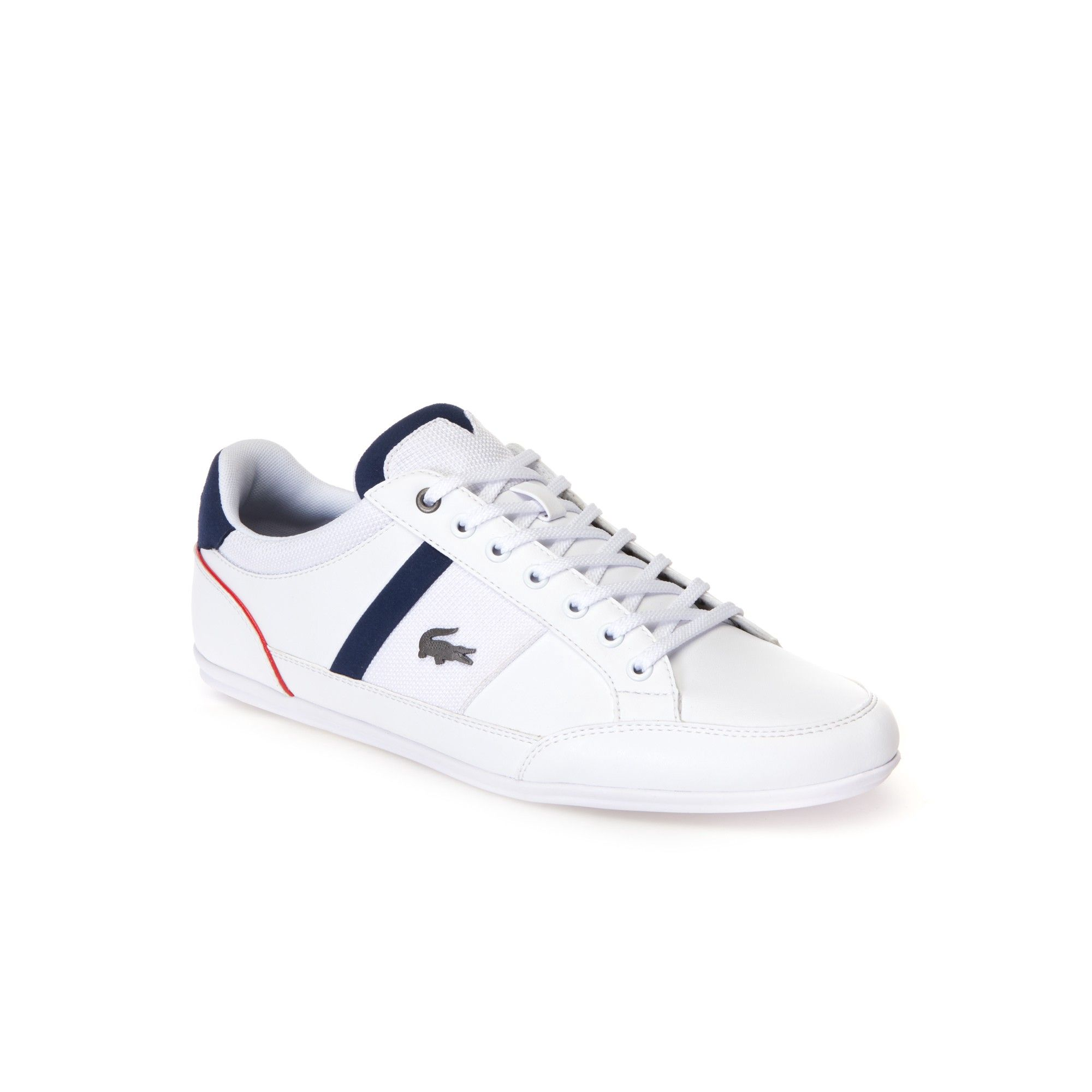 db03cefe6836 LACOSTE Men s Chaymon Nappa Leather and Mesh Trainers.  lacoste  shoes