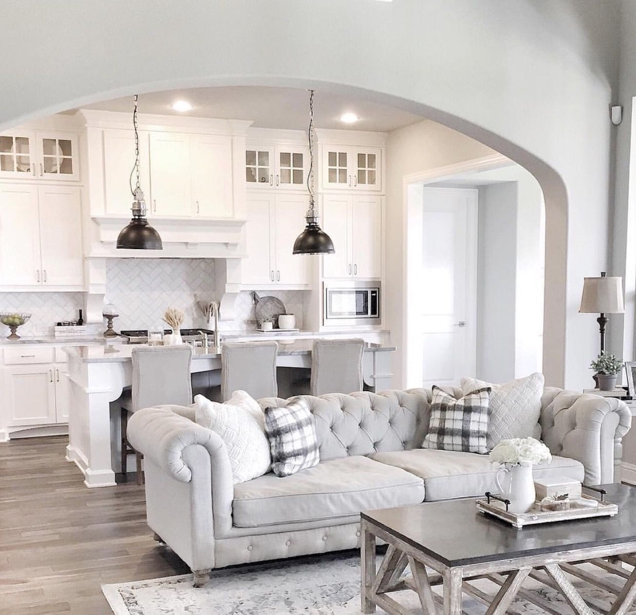 Pin by renee padjen on white kitchens pinterest living rooms
