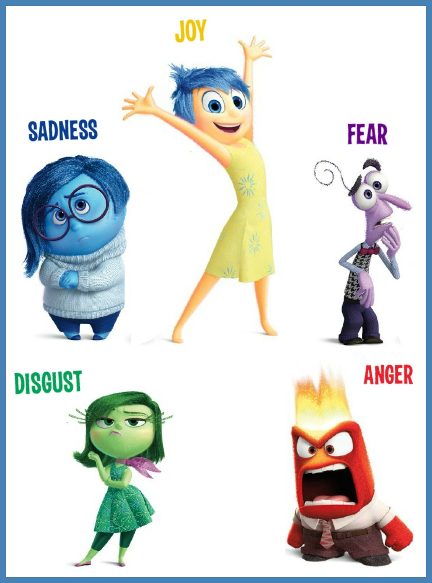 Inside Out Craft | Inside out emotions, Inside out characters ...