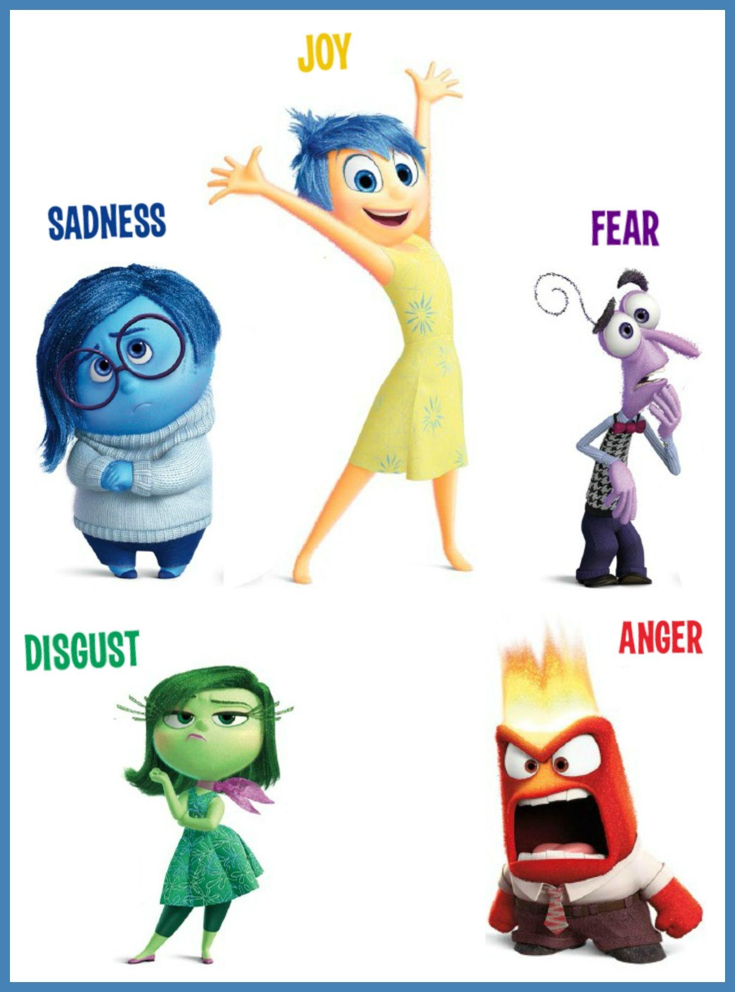 Inside Out Craft | Intensamente personajes, Juego de emociones ...