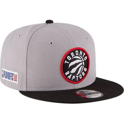 3a100445f0a Men's New Era Gray/Black Toronto Raptors 2018 NBA Playoffs Two Tone 9FIFTY  Snapback Adjustable Hat