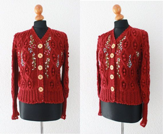 48e5352643d knit sweater with embroidery,dirndl cardigan,bavarian style ...
