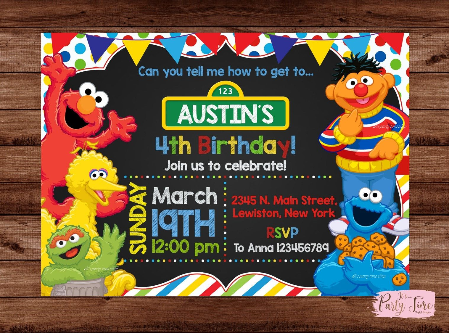 Sesame Street Invitation - Sesame Street Birthday Invitation ...