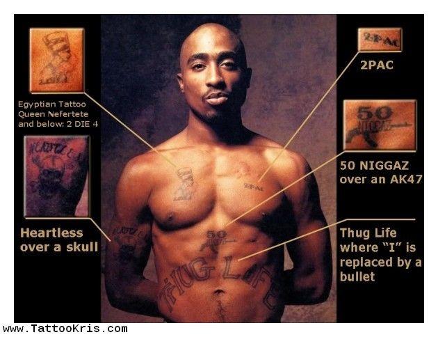 Pin by hannah goldman on romeo and crew tattoos for Thug life tattoo tupac
