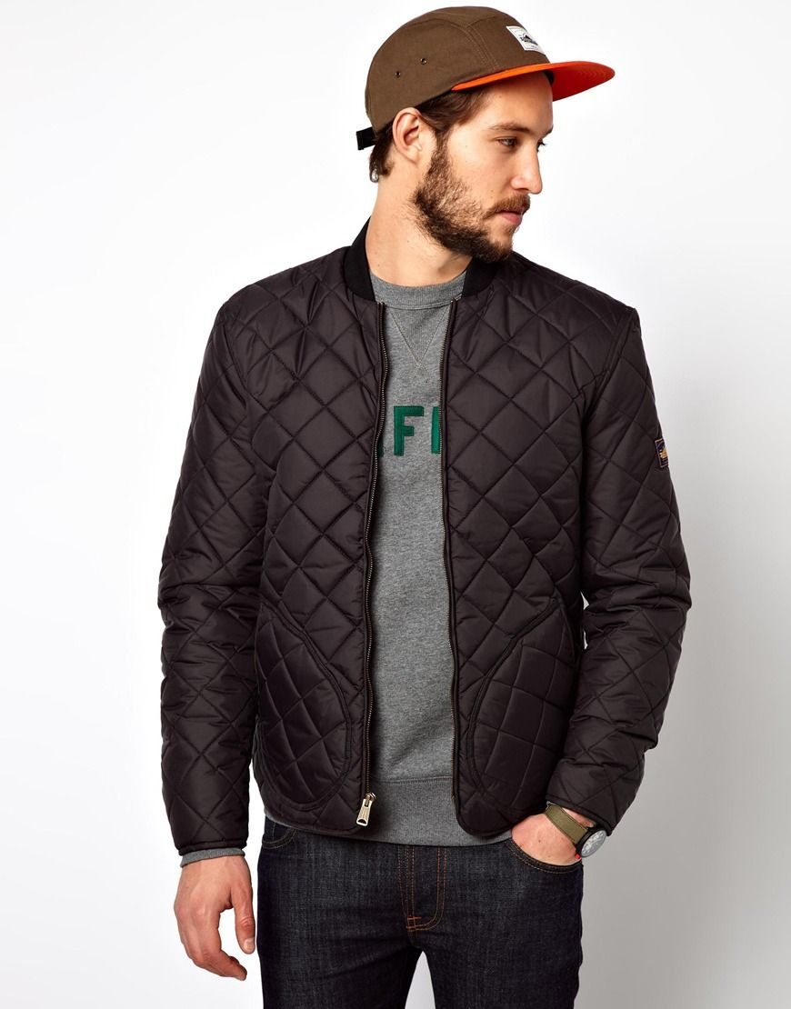 59e8fc075 Quilted Bomber Jacket | Quilted Fashion in 2019 | Bomber jacket ...