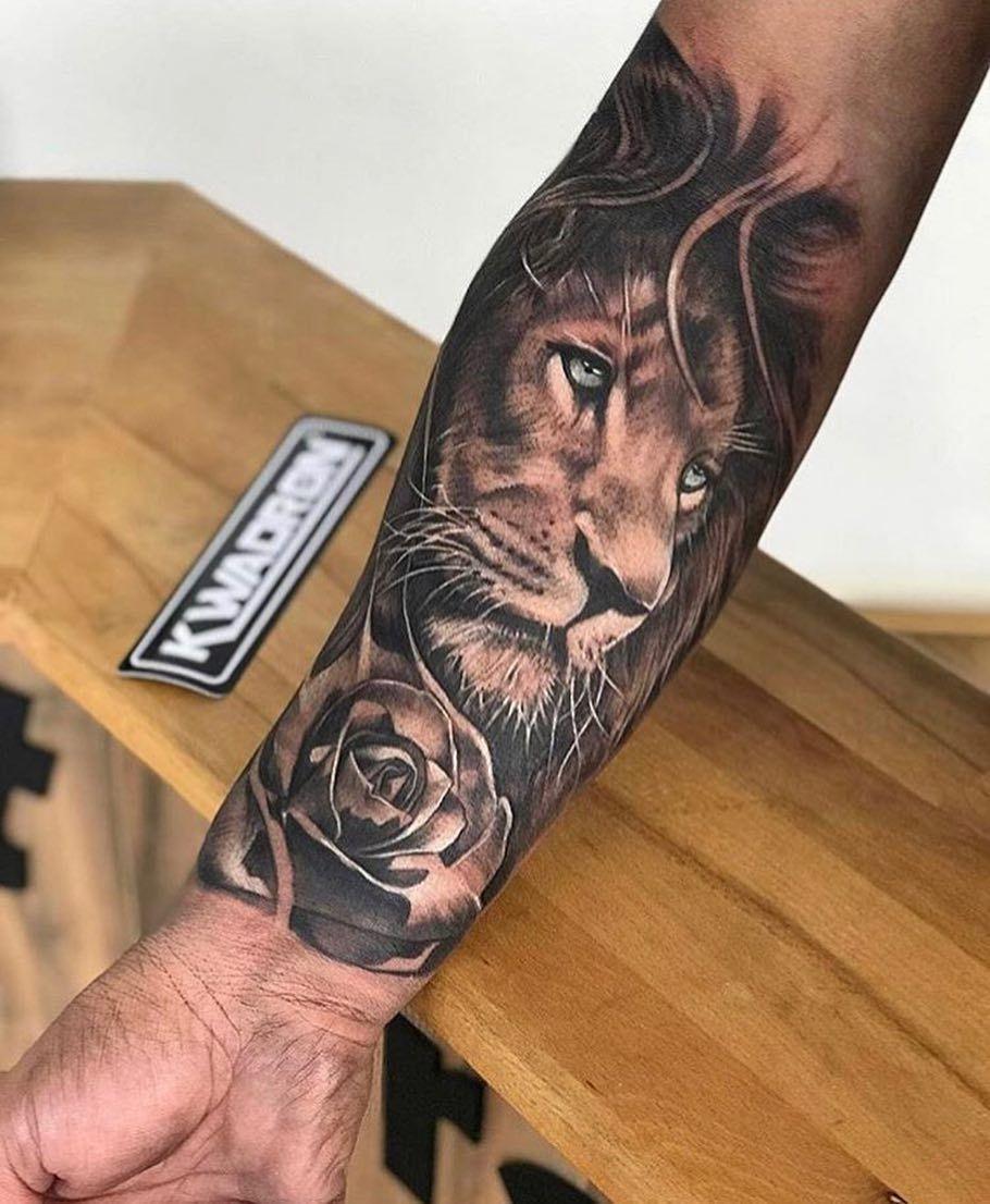 Tattoos Tatuajes De Leon Tatuajes De Brazo Masculinos Tatuajes De Leones En El Antebrazo