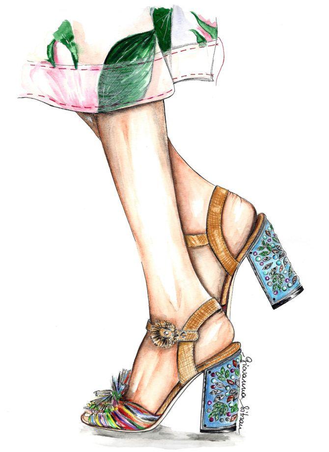 Картинки аниме ноги на каблуках нарисованные акварелью