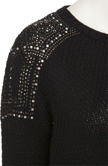 Topshop Embellished Shoulder Sweater | Nordstrom