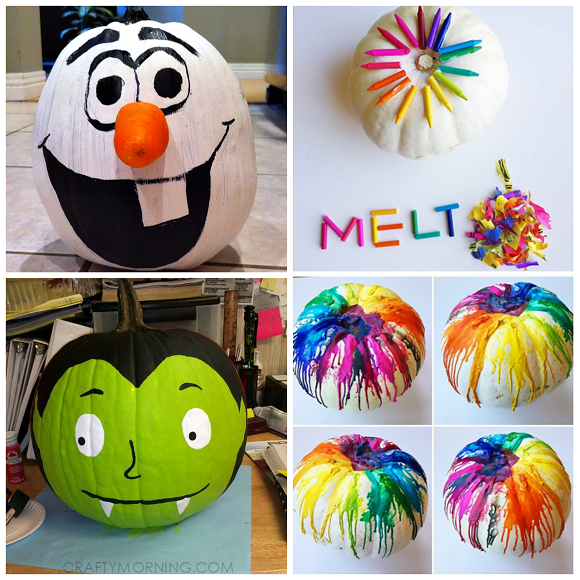 clever no carvepainted pumpkin ideas for kids - Halloween Pumpkin Designs Without Carving
