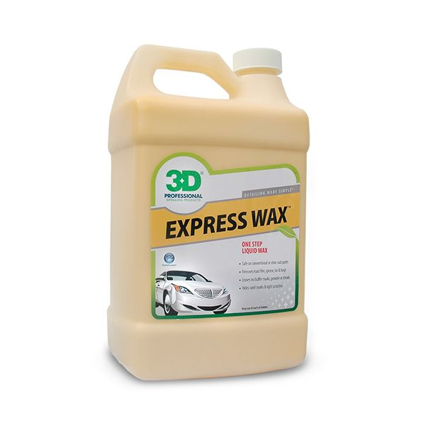 3D Express Wax is the simplest way to seal your car of harmful pollutants all while providing incredible gloss and surface slickness. Use 3D Express Wax to restore gloss to single stage or clear coat