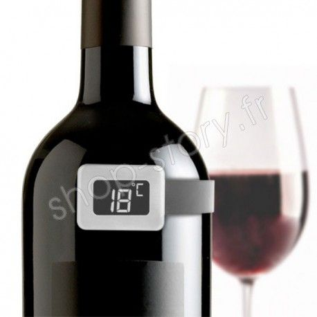Thermometre A Vin Numerique Avec Ecran Lcd Vin Bouteille De Vin Cocktails Vin