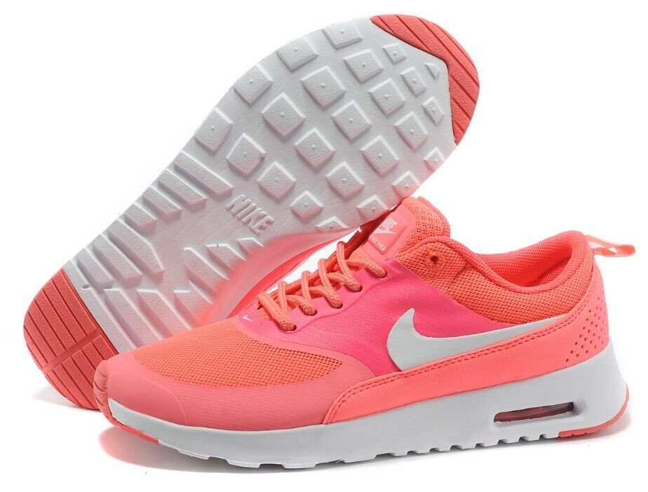 A great news for all fansBuy Nike Air Max Thea Womens Coral White Shoes on  great discount in Best Seller now with savingswhats morefree and fast