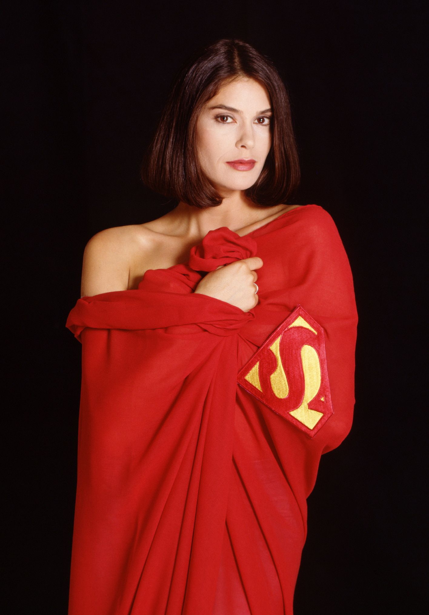 Lois Lane in Cape (Teri Hatcher) #SuperMan  No words can express.....