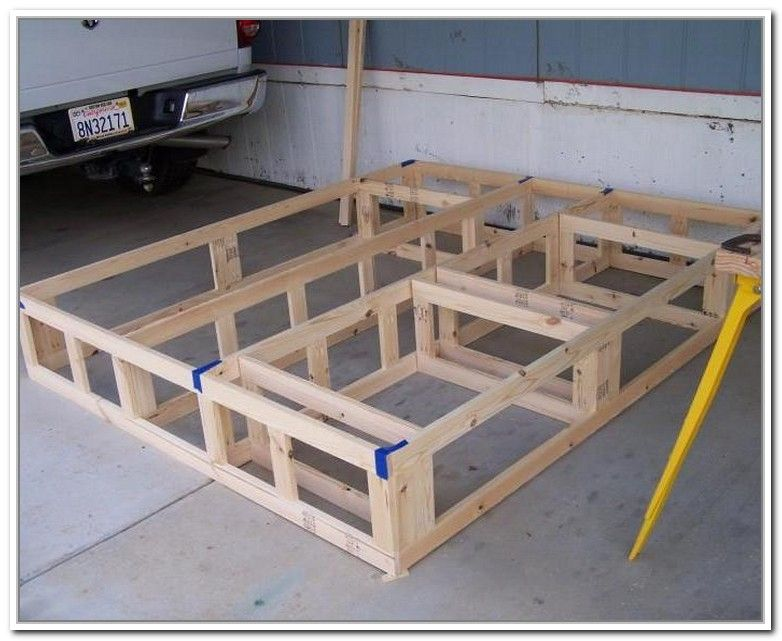 Diy King Size Bed Frame With Storage DIY projects Pinterest