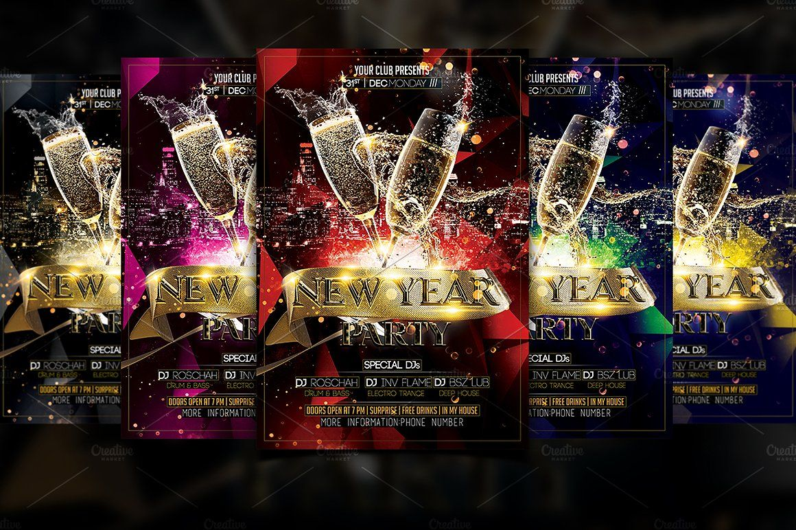 New Year Party Template New Years Party Templates Website Design Inspiration