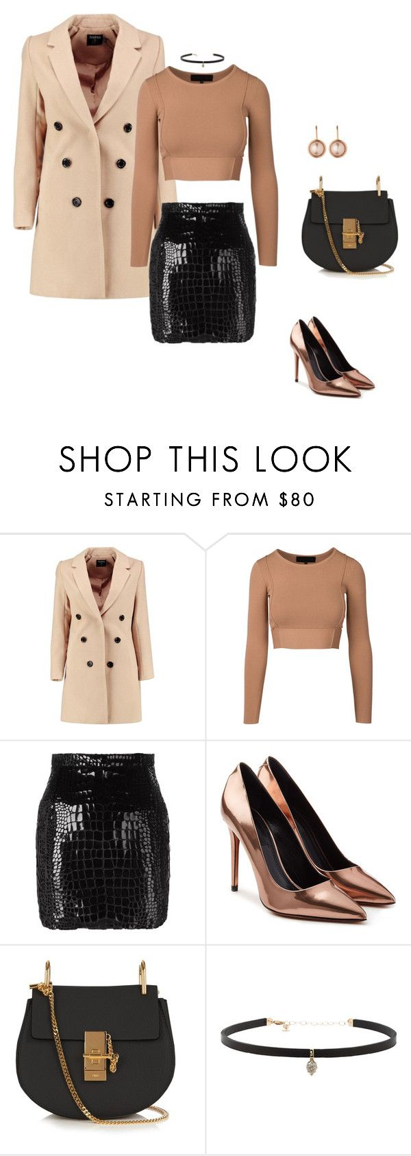 """beige chic"" by katka-klimova ❤ liked on Polyvore featuring Boohoo, Yves Saint Laurent, Alexander Wang, Chloé, Carbon & Hyde and Dyrberg/Kern"