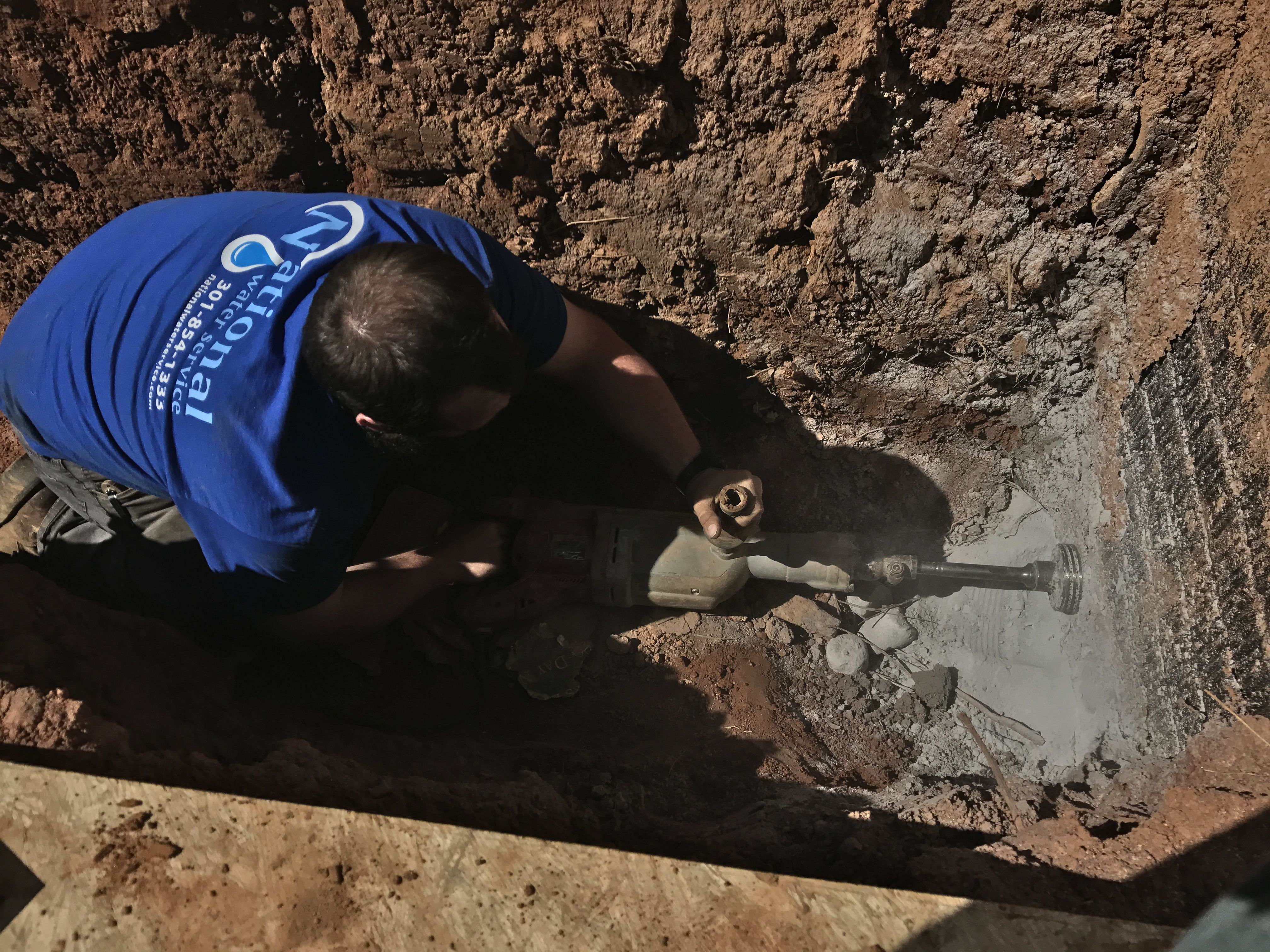 Core Drilling Through A Foundation For A New Well Line Water Treatment Well Pump Water Quality