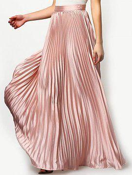Blush Pleated Maxi Skirt