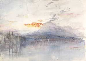 JMW Turner, The Rigi  1844, watercolour on paper, unique. Support: 228 x 325 mm. Bequeathed by the artist 1856 © Tate, London