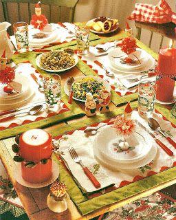 1950 S Christmas Table Christmas Table Christmas Table Decorations Christmas Table Settings