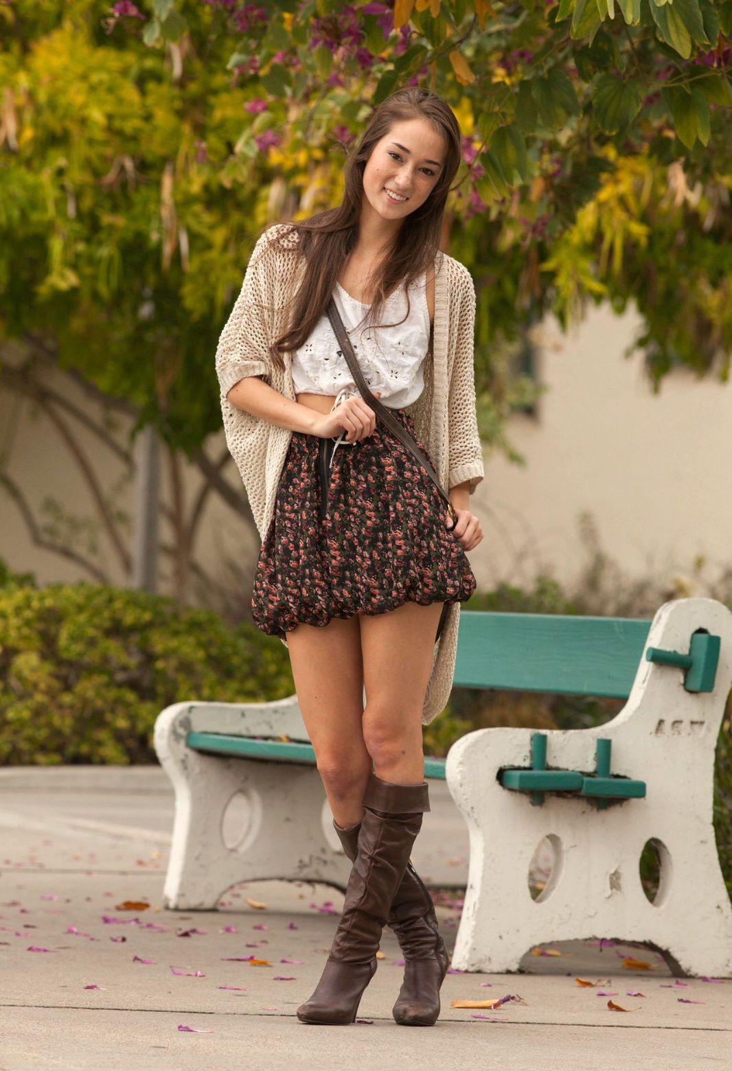 College hot brunette